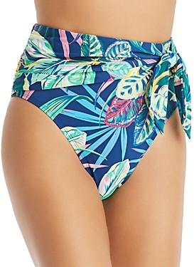 Bleu Rod Beattie High-Waist Tie Draped Bikini Bottom