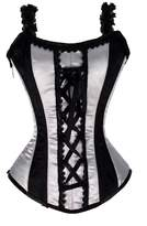 Luvsecretlingerie 12 Full Steel Boned Zip Heavy Lacing Satin Overbust Shaper Corset