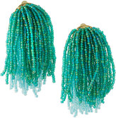 Lydell NYC Waterfall Beaded Statement Earrings