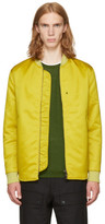 Acne Studios Yellow Mylon Matt Bomber Jacket
