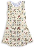 Urban Smalls Beige Nautical Patchwork Sleeveless Dress - Toddler & Girls