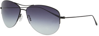Oliver Peoples Men's Strummer Gradient Metal Aviator Sunglasses