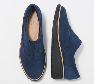 Clarks Collection Suede Slip-On Shoes - Sharon Sail