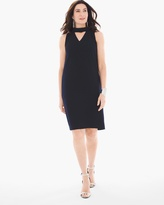 Chico's Cutout Mock Neck Dress