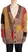 Burberry Men's Colorblocked Mélange Wool-Blend Cardigan