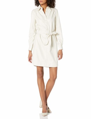 Trina Turk Women's Boscage Faux Leather Shirt Dress