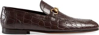 Gucci Jordaan crocodile loafer