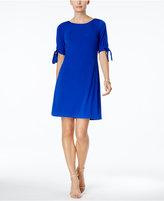 Jessica Howard Tie-Sleeve A-Line Dress