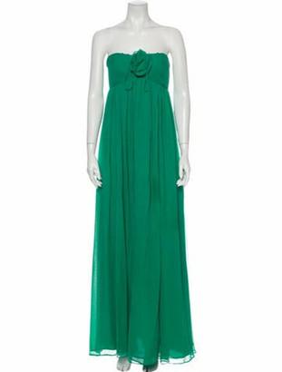 Robert Rodriguez Silk Long Dress Green