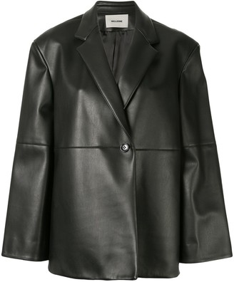 we11done Faux Leather Jacket