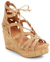 Gentle Souls Joy Cork Platform Wedge Sandals
