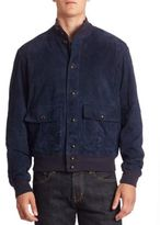 Polo Ralph Lauren Modern-Fit Suede Baseball Jacket