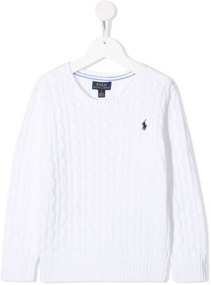 Ralph Lauren Kids Cable-Knit Logo-Embroidered Jumper