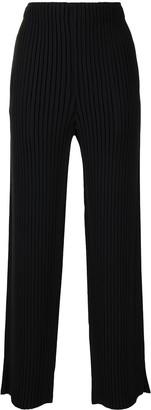 Issey Miyake Pleated Straight Leg Trousers