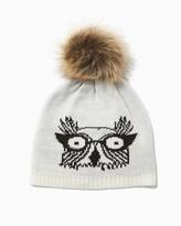 Charming charlie Owl Love You Pom Beanie
