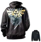 Bioworld Zelda - Sweat-Shirt Noir Logo Doré - Taille L - 8718526016383