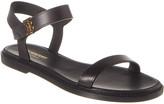 Burberry Monogram Motif Leather Sandal
