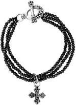 King Baby Studio Silver Spinel Cross Bracelet