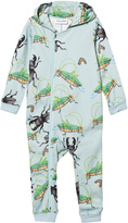 Mini Rodini Light Blue Insects Onesie