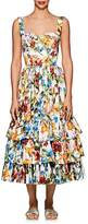 Dolce & Gabbana Women's Floral & Bug-Print Cotton Poplin Midi-Dress