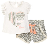 Jessica Simpson Flutter Sleeve Tee & Short Set (Baby Girls)
