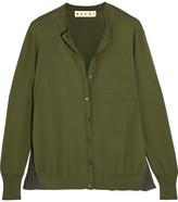 Marni Plissé-paneled Cotton-blend Cardigan - IT46