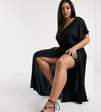 Noisy May Curve layered jumpsuit in black