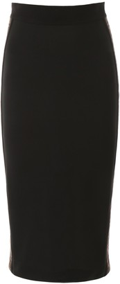 Fendi FF Logo Stretch Pencil Skirt