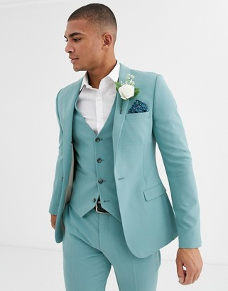 ASOS DESIGN super skinny suit jacket in sea green
