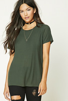 Forever 21 FOREVER 21+ Boxy Ribbed Knit Top