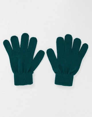 Boardmans recycled yarn gloves in forest green