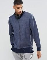 Asos Sweatshirt In Loop Back Fabric