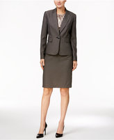 Le Suit Three-Piece Textured Tweed Skirt Suit