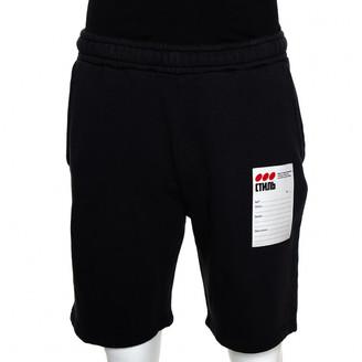 Heron Preston Black Cotton Trousers