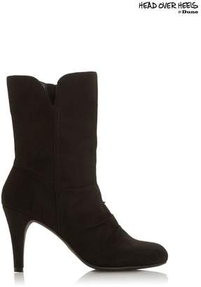 Head Over Heels Womens Round Toe Boots - Black