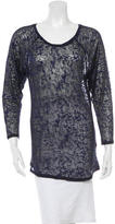 Etoile Isabel Marant Long Sleeve Sheer Top