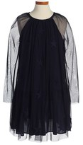 Stella McCartney Toddler Girl's 'Midnight Misty' Star Applique Tulle Dress
