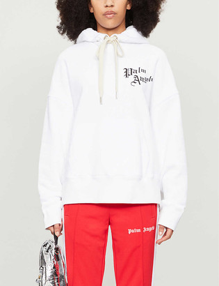Palm Angels Sacred Heart graphic-print cotton-jersey hoody
