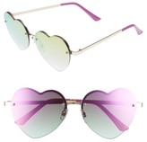 Leith Women's 58Mm Heart Sunglasses - Purple