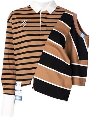 Maison Mihara Yasuhiro asymmetric striped T-shirt