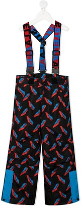 Stella McCartney Kids 3D Lightning Poly ski trousers