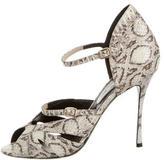 Nicholas Kirkwood Multistrap Snakeskin Sandals