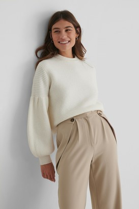 The Fashion Fraction X NA-KD Dropped Puffy Sleeve Knitted Sweater