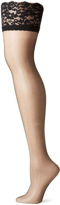 Berkshire Women's Plus-Size Shimmers Ultra Sheer Lace Top Thigh High Stockings 1340