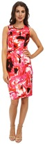 Maggy London Flower Storm Scuba Sheath Dress