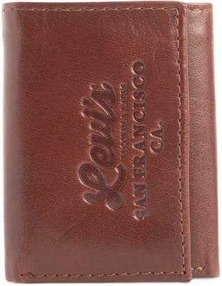 Levi's Men Tri-Fold Rfid Zip-Pocket Wallet