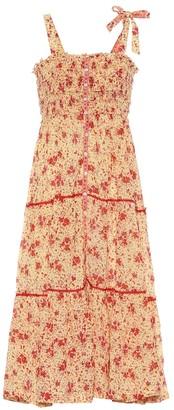 Poupette St Barth Triny floral cotton midi dress