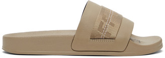 Off-White Taupe Industrial Slides