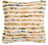 Thin Striped Looped Wool Pillow