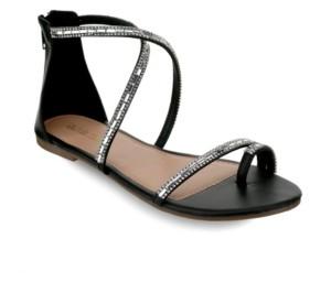 OLIVIA MILLER Richey Multi Rhinestone Sandals Women's Shoes
